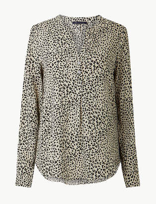 Marks and Spencer Animal Print Blouse