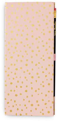 Vera Bradley Blush Gold Dots Sticky Notepad Slim Book