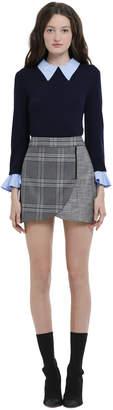 Alice + Olivia Lennon Side Zip Overlap Mini Skirt