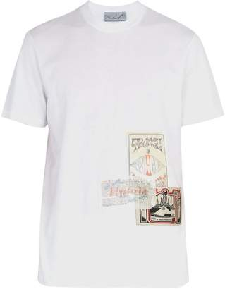 Martine Rose Patchwork Flyer Cotton Jersey T Shirt - Mens - White Multi