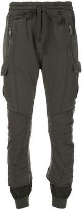 Haider Ackermann distressed layered track pants