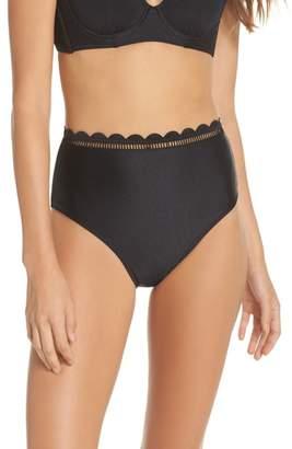 Ted Baker Scallop High Waist Bikini Bottoms