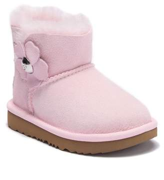 UGG Mini Bailey Button Poppy UGGpureTM Lined Boot (Toddler & Little Kid)