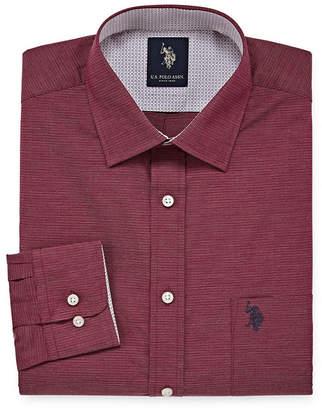 U.S. Polo Assn. USPA Uspa Dress Shirt Long Sleeve Yarn Dyed Woven Dress Shirt - Slim