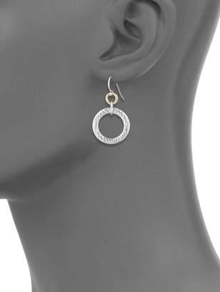 Gurhan 24K Gold & Sterling Silver Circle Drop Earrings