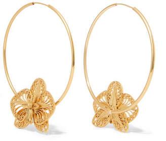 Mallarino Orquídea Gold Vermeil Hoop Earrings - one size