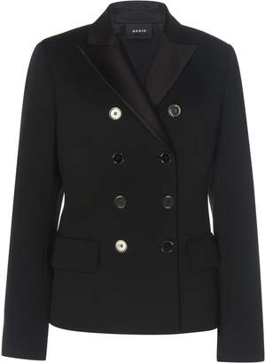 Akris Glorie Double-Breasted Wool Blazer