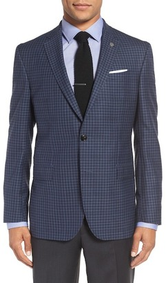 Ted Baker London 'Jay' Trim Fit Check Wool Sport Coat $595 thestylecure.com