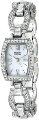 "Badgley Mischka Women's BA/1337WMSB ""Amazon Exclusive"" Swarovski Crystal-Accented Watch With Open-Link Bracelet"