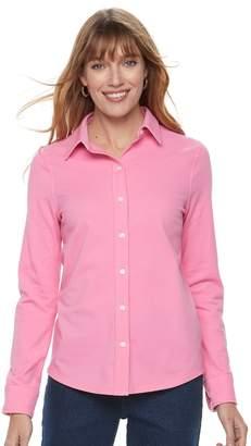 Croft & Barrow Women's Button Front Shirt