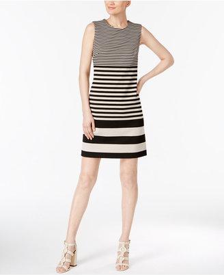 Calvin Klein Striped Sheath Dress $129.50 thestylecure.com