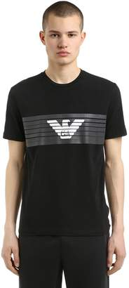 Train Logo Printed Jersey T-Shirt
