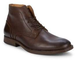 Black & Brown Black Brown Smooth Leather Plain Toe Boots