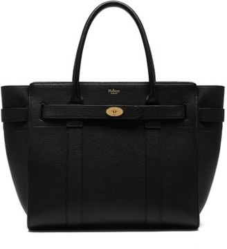 Mulberry Zipped Bayswater Leather Satchel - Black $1,675 thestylecure.com