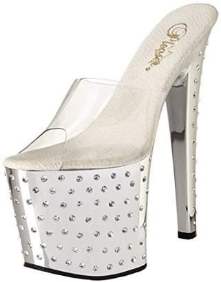 Pleaser USA Women's Stardust-751/C/SCH Platform Sandal