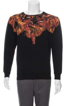 Marcelo Burlon County of Milan Graphic Print Crew Neck Sweatshirt