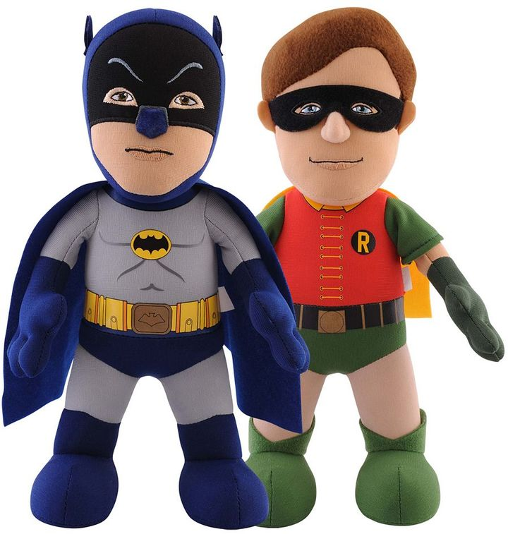 DC Comics Batman '66 Dynamic Duo 10-in. Plush Figures Batman & Robin Set by Bleacher Creatures