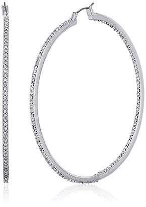 """Kenneth Cole New York Shiny Silver Items"""" Silver And Large Hoop Earrings"""