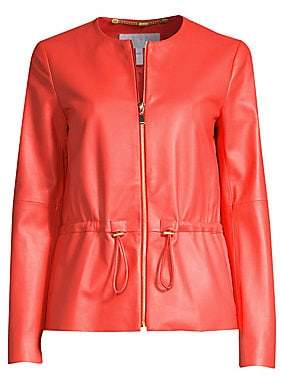 Escada Sport Women's Leather Zip Front Jacket