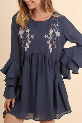 Umgee USA Ruffle Sleeve Dress