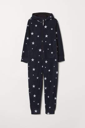 H&M Fleece Overall - Black