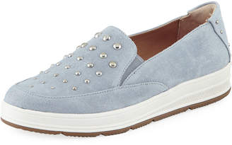 Adrienne Vittadini Goldie Studded Suede Sneakers