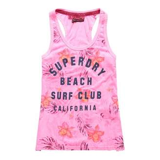 Fluro Pink Surf Club Aop Overdyed Vest