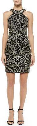 Parker Mariah Fleur de Lis Racerback Dress, Black $264 thestylecure.com