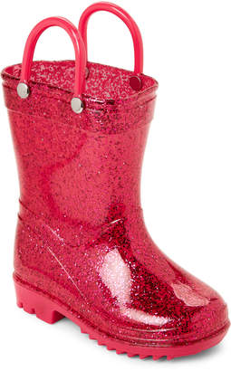 Lilly Of New York (Toddler Girls) Pink Glitter Rain Boots