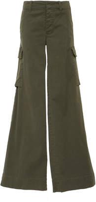 Nili Lotan Harrow Stretch-Cotton Twill Wide-Leg Pants
