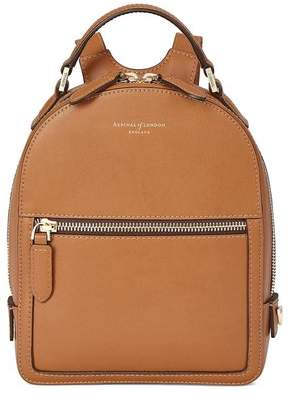 Aspinal of London Micro Mount Street Backpack In Smooth Tan