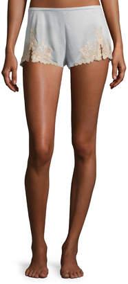 Josie Natori Charlize Lounge Tap Shorts, Sage