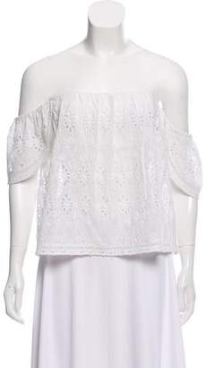Lovers + Friends Eyelet Off-The-Shoulder Top w/ Tags