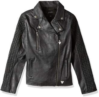 GUESS Big Girls' Faux Leather Jacket