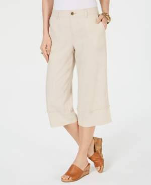 Style&Co. Style & Co Frayed Wide-Leg Capri Pants, Created for Macy's