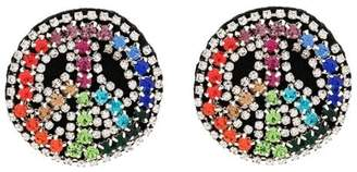 Venessa Arizaga multicoloured Peace Dream crystal embellished earrings