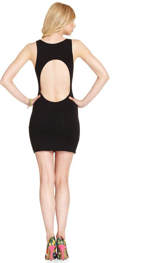 GUESS Dress, Sleeveless Scoop-Neck Cutout Mini