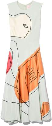 Roksanda Cassira Embroidery Dress in Eau de Nil