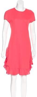 Giambattista Valli Ruffle-Trimmed Sleeveless Dress