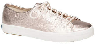 Keds Kickstart Metallic Tumbled Leather Rose Gold Sneaker WH60365