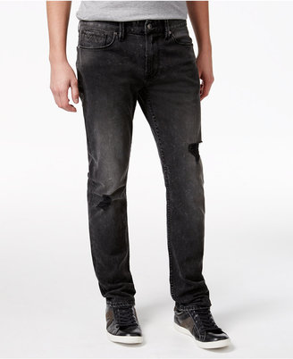GUESS Men's Slim-Fit Straight Slate Black Jeans $98 thestylecure.com