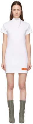 Heron Preston White Style Mock Neck T-Shirt Dress