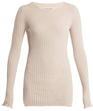 Apiece Apart Second Skin Ribbed Knit Cotton Top - Womens - Ivory