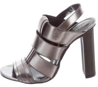 Robert Clergerie Metallic Leather Sandals w/ Tags