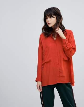 Asos DESIGN Oversized Utility Shirt