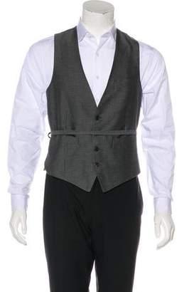 Dries Van Noten Geometric Patterned Suit Vest