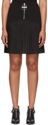 Givenchy Black Pleated Logo Miniskirt
