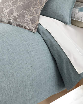 Isabella Collection by Kathy Fielder King Caspin Blue Duvet Cover