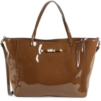 Valentino Garavani Open-Top Leather Shoulder Bag