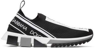 Dolce & Gabbana Black Branded Sorrento Sneakers